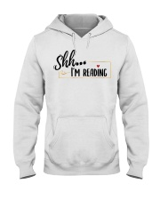 Shhh Reading Hooded Sweatshirt thumbnail