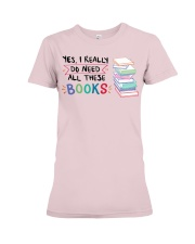 Need All Books Premium Fit Ladies Tee front