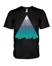 Many Mountains Goat Shirt Farmer Shirt V-Neck T-Shirt thumbnail