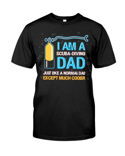 Im A Scuba Diving Dad Father Shirt Papa Tee Daddy