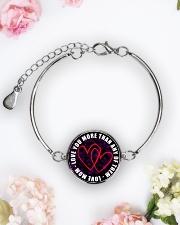 To My Daughter Metallic Circle Bracelet aos-bracelet-metal-front-lifestyle-6