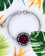To My Daughter Metallic Circle Bracelet aos-bracelet-metal-front-lifestyle-7