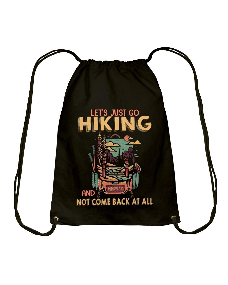 LET'S JUST GO HIKING Drawstring Bag