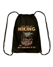 LET'S JUST GO HIKING Drawstring Bag tile