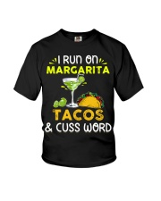 MARGARITA TACOS AND CUSS WORD Youth T-Shirt thumbnail