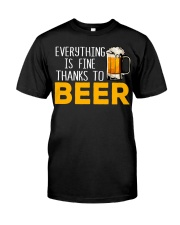 THANKS TO BEER Classic T-Shirt thumbnail