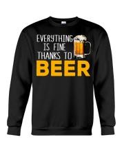 THANKS TO BEER Crewneck Sweatshirt thumbnail