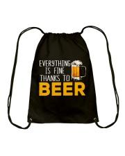 THANKS TO BEER Drawstring Bag thumbnail