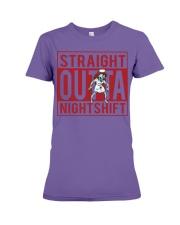 STRAIGHT OUTTA NIGHTSHIFT Premium Fit Ladies Tee thumbnail