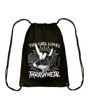THIS GIRL LOVES METAL Drawstring Bag thumbnail