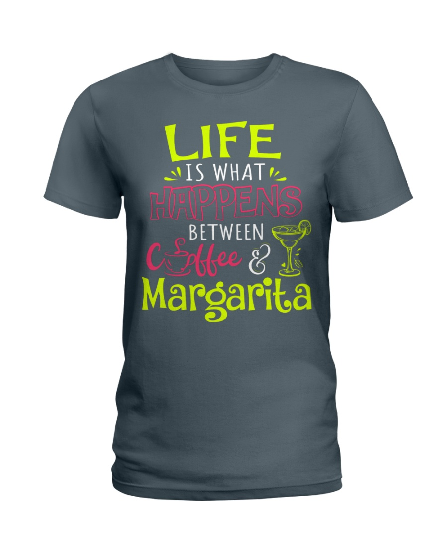 MARGARITA AND COFFEE Ladies T-Shirt
