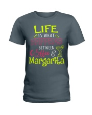 MARGARITA AND COFFEE Ladies T-Shirt front
