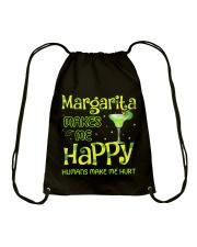 MARGARITA MAKES ME HAPPY Drawstring Bag thumbnail