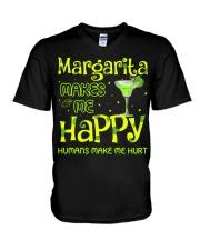 MARGARITA MAKES ME HAPPY V-Neck T-Shirt thumbnail