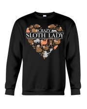 CRAZY SLOTH LADY Crewneck Sweatshirt thumbnail
