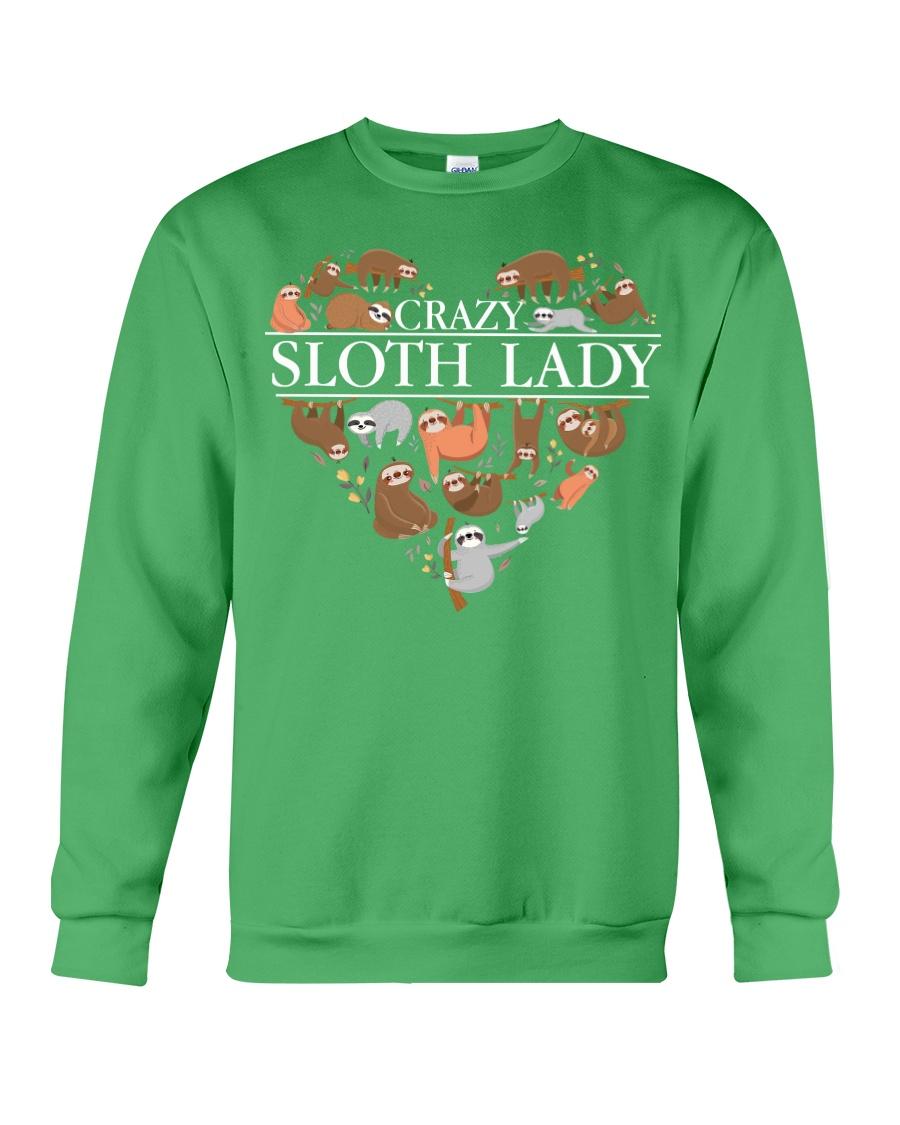 CRAZY SLOTH LADY Crewneck Sweatshirt