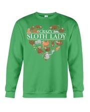 CRAZY SLOTH LADY Crewneck Sweatshirt front