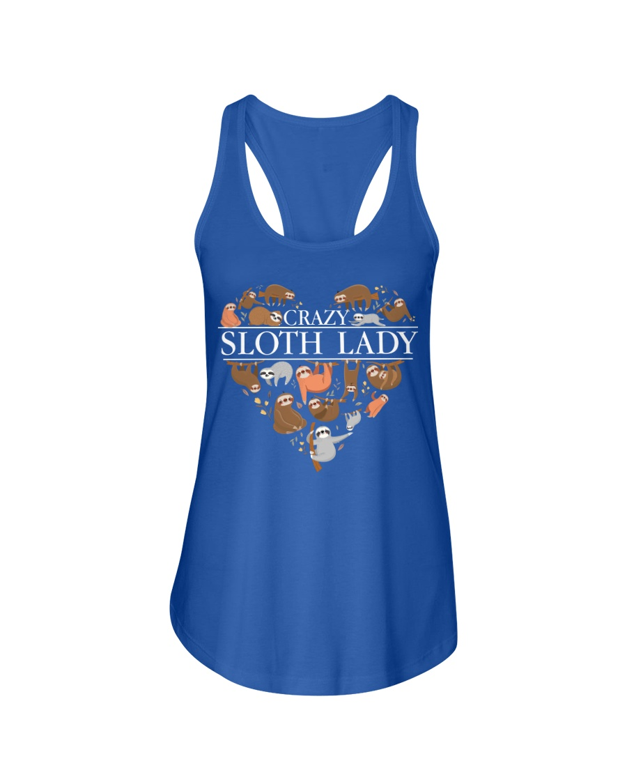 CRAZY SLOTH LADY Ladies Flowy Tank