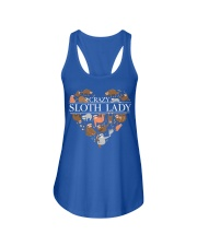CRAZY SLOTH LADY Ladies Flowy Tank front