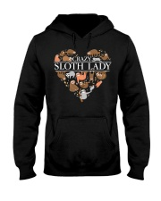 CRAZY SLOTH LADY Hooded Sweatshirt thumbnail
