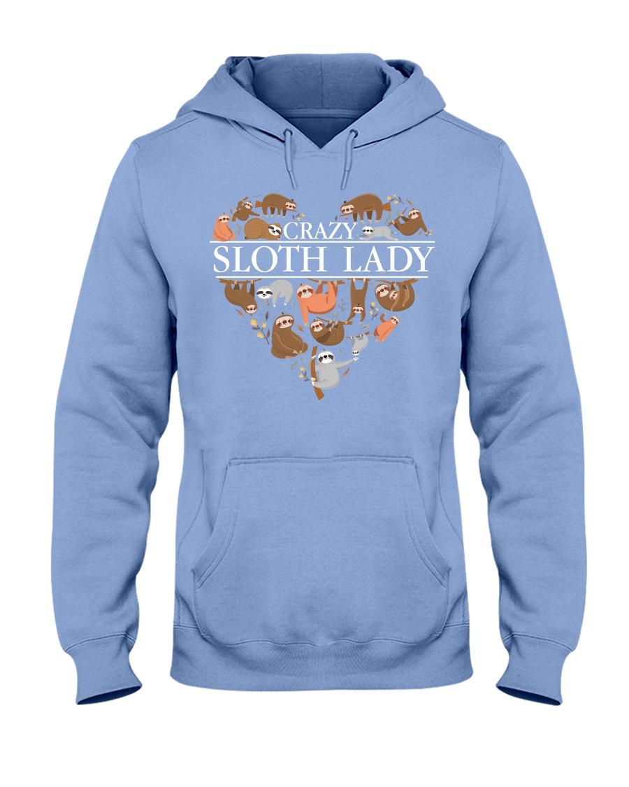 CRAZY SLOTH LADY Hooded Sweatshirt