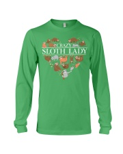 CRAZY SLOTH LADY Long Sleeve Tee front