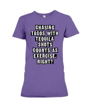 CHASING TACOS WITH TEQUILA Premium Fit Ladies Tee thumbnail