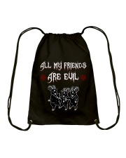 ALL MY FRIENDS ARE EVIL Drawstring Bag thumbnail