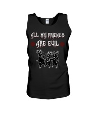 ALL MY FRIENDS ARE EVIL Unisex Tank thumbnail