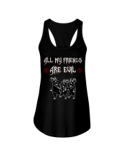 ALL MY FRIENDS ARE EVIL Ladies Flowy Tank thumbnail