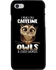I RUN ON CAFFEINE OWLS AND CUSS WORDS Phone Case thumbnail