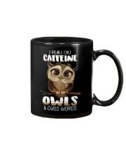 I RUN ON CAFFEINE OWLS AND CUSS WORDS Mug thumbnail