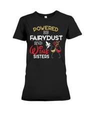 POWERED BY WINE  Premium Fit Ladies Tee thumbnail