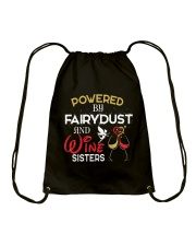 POWERED BY WINE  Drawstring Bag thumbnail