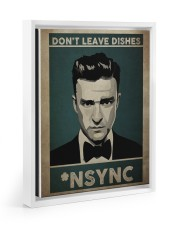 don't leave dishes Floating Framed Canvas Prints White tile