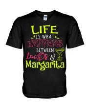 MARGARITA AND TACOS V-Neck T-Shirt thumbnail
