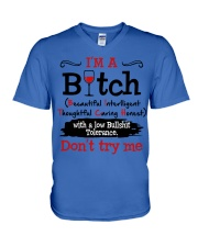 DON'T TRY ME V-Neck T-Shirt thumbnail
