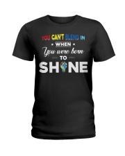YOU WAS BORN TO SHINE Ladies T-Shirt thumbnail