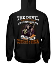 BRING COFFEE AND PIZZA PLEASE Hooded Sweatshirt thumbnail