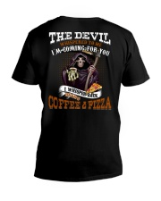 BRING COFFEE AND PIZZA PLEASE V-Neck T-Shirt thumbnail