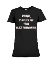 LESS MURDERY Premium Fit Ladies Tee thumbnail
