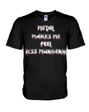 LESS MURDERY V-Neck T-Shirt thumbnail
