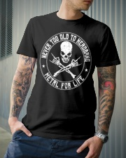 NEVER TOO OLD TO HEADBANG Classic T-Shirt lifestyle-mens-crewneck-front-6