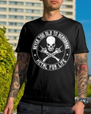 NEVER TOO OLD TO HEADBANG Classic T-Shirt lifestyle-mens-crewneck-front-8