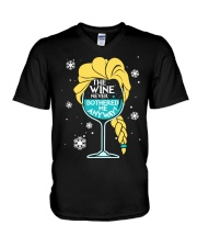 THE WINE NEVER BOTHERED ME ANYWAY V-Neck T-Shirt thumbnail