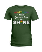YOU WAS BORN TO SHINE Ladies T-Shirt front