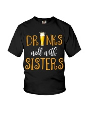 DRINKS WELL Youth T-Shirt thumbnail