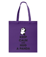 Keep Calm And Hug Panda Tote Bag thumbnail