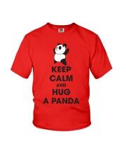 Keep Calm And Hug Panda Youth T-Shirt front