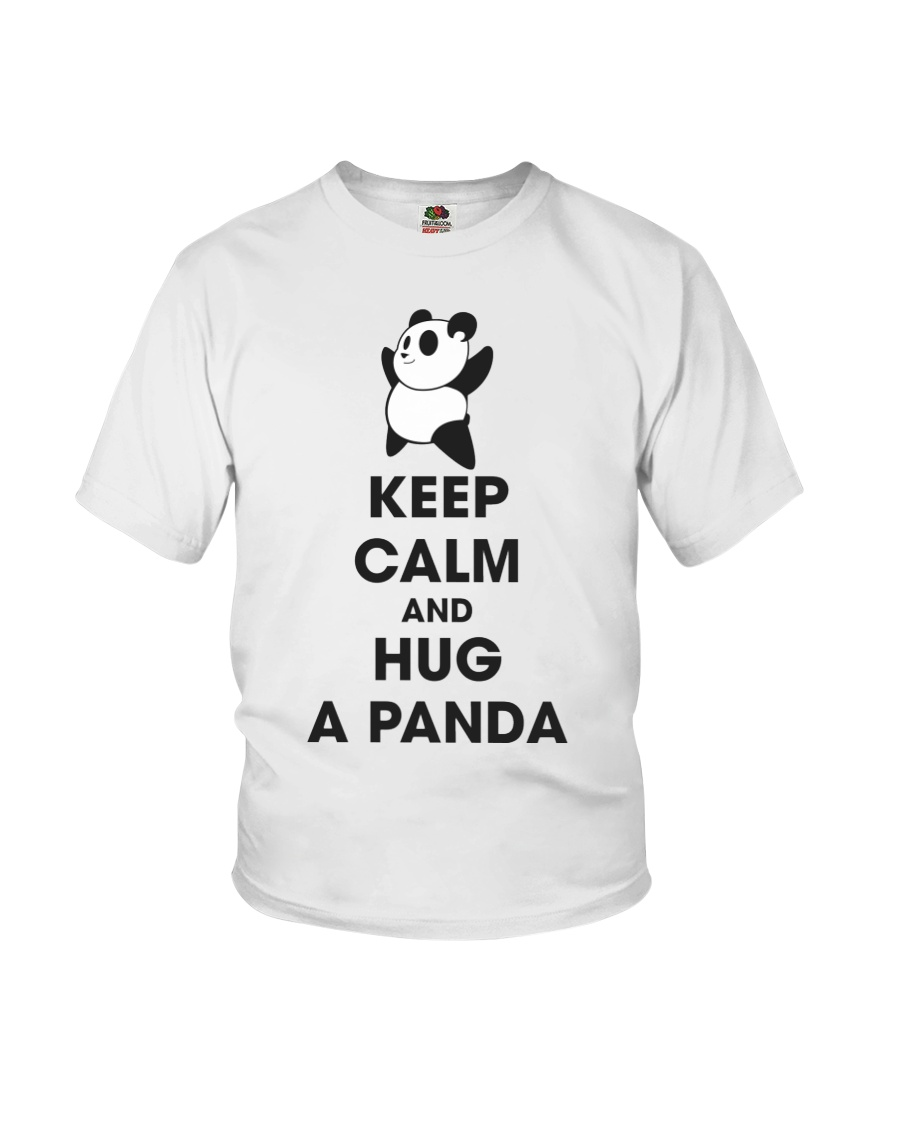 Keep Calm And Hug Panda Youth T-Shirt